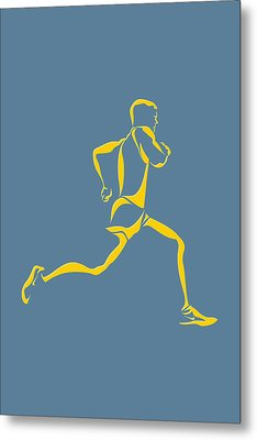 Running Runner13 Metal Print by Joe Hamilton
