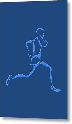 Running Runner15 Metal Print by Joe Hamilton