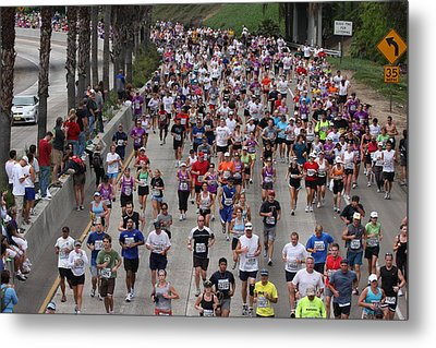 Metal Print featuring the photograph Running The Marathon by Nathan Rupert
