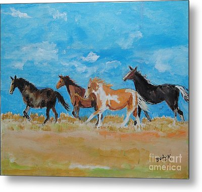 Metal Print featuring the painting Running Wild by Judy Kay