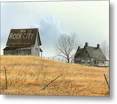 Metal Print featuring the painting Rural America by Mike Brown