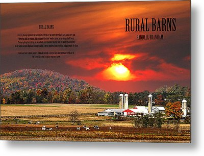 Metal Print featuring the photograph Rural Barns  My Book Cover by Randall Branham