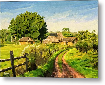 Rural Home Metal Print by Anthony Mwangi