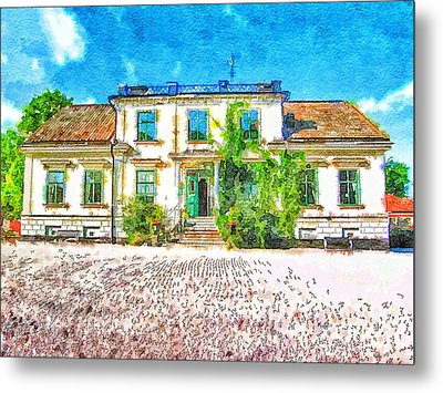 Rural Hotel In Sweden 2 Metal Print