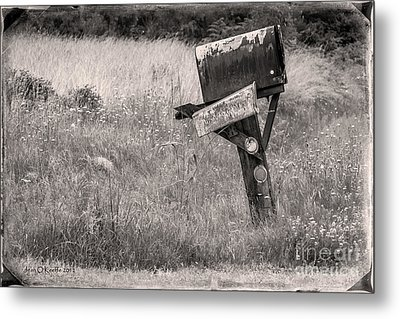 Rural Route Mail Call  Metal Print