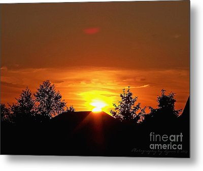 Metal Print featuring the photograph Rural Sunset by Gena Weiser