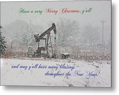 Rural Texas Christmas Metal Print