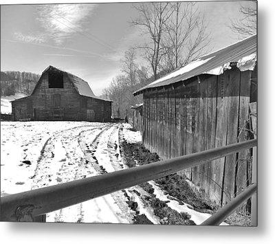 Rural Winter Metal Print