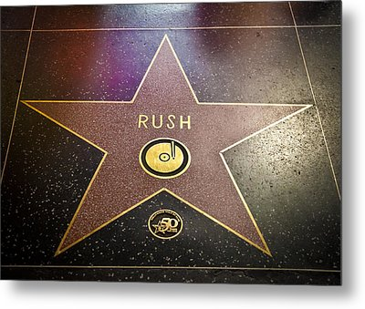Rush Has A Star Metal Print