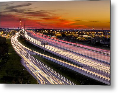 Rush Hour On 59 Metal Print