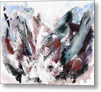 Rushing Down The Cliff Metal Print by Lidija Ivanek - SiLa