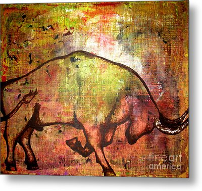 Metal Print featuring the painting Rushing Matador by Amy Sorrell