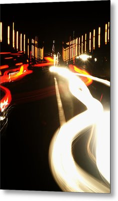 Rushing Traffic Metal Print