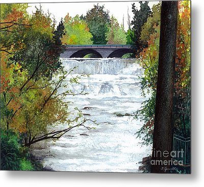 Rushing Water - Quiet Thoughts Metal Print by Barbara Jewell