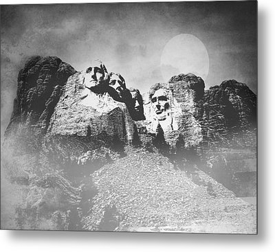 Metal Print featuring the photograph Rushmore At Night by Roy  McPeak