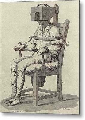 Rush's Tranquiliser Chair Metal Print by American Philosophical Society