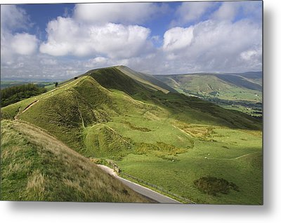 Rushup Edge - Viewed From Mam Tor Metal Print