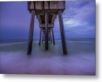 Russell Fields Pier Metal Print by David Morefield