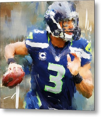 Russell Wilson Metal Print by Lourry Legarde