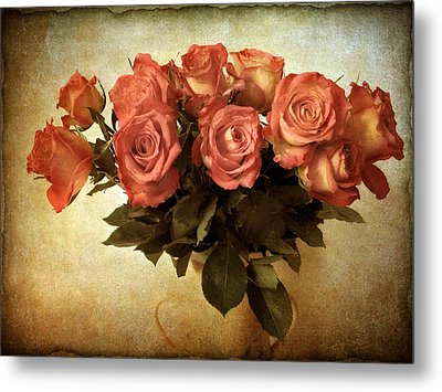 Russet Rose Metal Print by Jessica Jenney