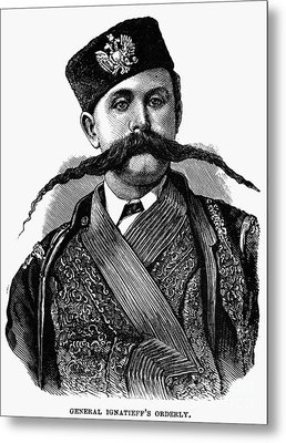 Russia: Military Orderly Metal Print by Granger