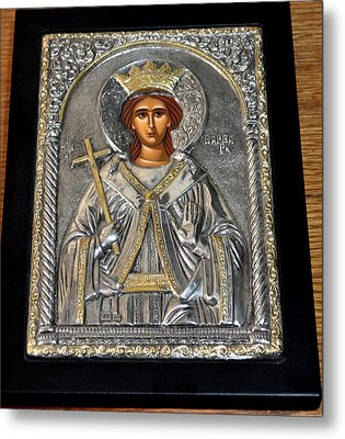 Russian Byzantin Icon Metal Print by Jay Milo