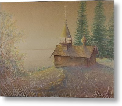 Russian Chapel Metal Print by Alla Parsons