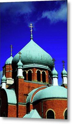 Russian Orthodox Church Metal Print by Karol Livote
