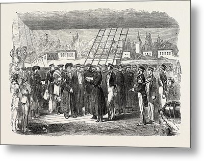 Russian Prisoners On Board The Fury At Constantinople Metal Print