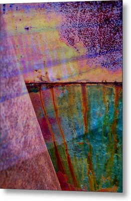 Rust And Paint Metal Print by Shirley Sirois