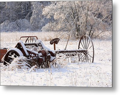 Rust And Snow Metal Print by Louise Heusinkveld