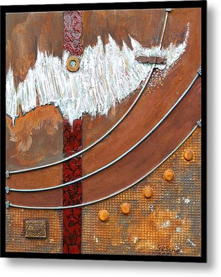 Rust Art 04 Metal Print by Gertrude Scheffler