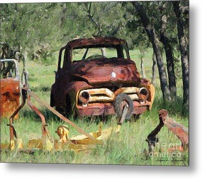 Rust In Peace No. 2 Metal Print