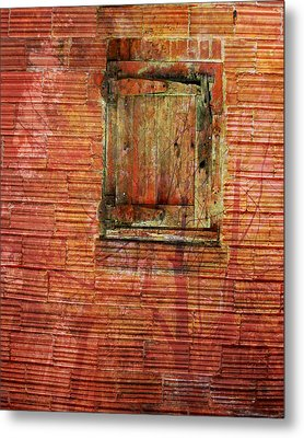 Rust Wall Metal Print by Lyn  Perry