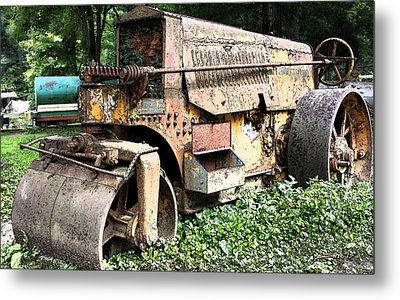Rusted Buffalo Springfield Roller Metal Print