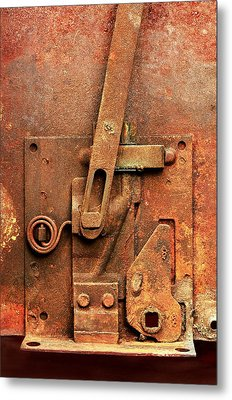 Rusted Latch Metal Print by Jim Hughes