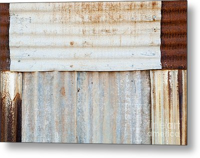 Rusted Metal Background Metal Print by Tim Hester