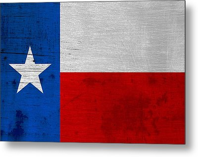 Rusted Texas State Flag Metal Print by Dan Sproul