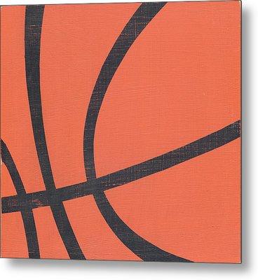 Rustic Basketball Metal Print