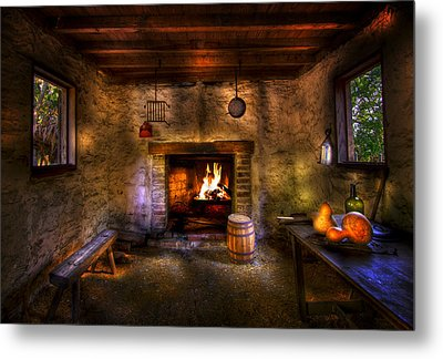 Rustic Country Cabin Metal Print by Mark Andrew Thomas
