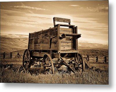 Rustic Covered Wagon Metal Print by Athena Mckinzie