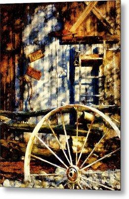 Rustic Decor Metal Print by Janine Riley