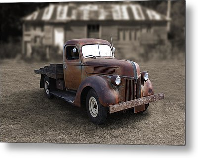 Metal Print featuring the photograph Rustic Ford Truck by Keith Hawley