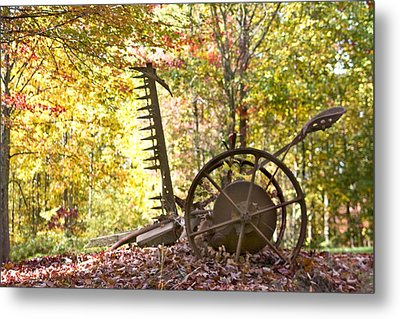 Metal Print featuring the photograph Rustic Hay Cutter by Robert Camp