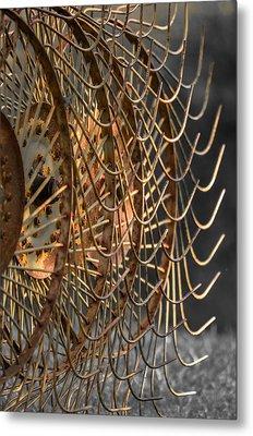 Rustic Hay Rake Metal Print by Brian Stevens