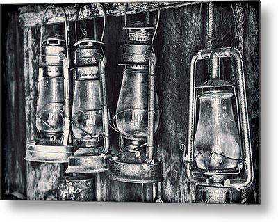 Rustic Lanterns Metal Print
