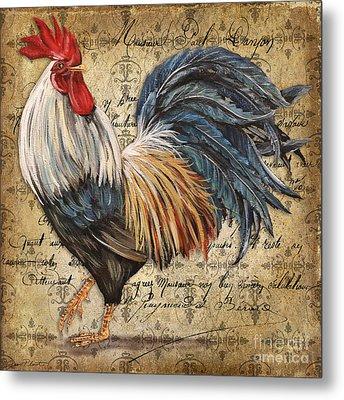 Rustic Rooster-jp2119 Metal Print
