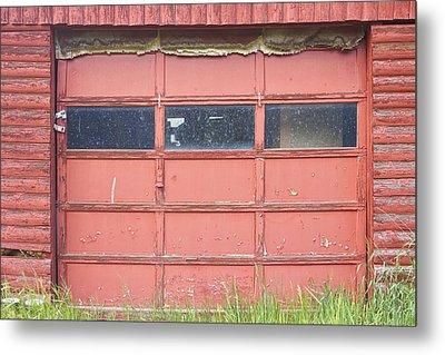 Rustic Rural Red Garage Door Metal Print by James BO  Insogna