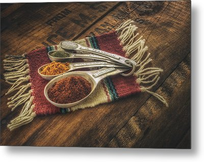 Rustic Spices Metal Print
