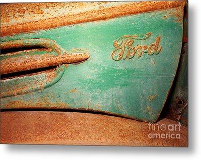 Rusting Ford Metal Print by James Brunker